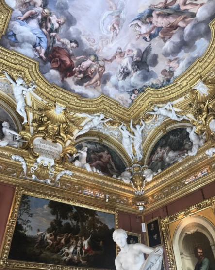 The showspace for Gucci Cruise 2018 was the Palatine Gallery of the Pitti Palace in Florence