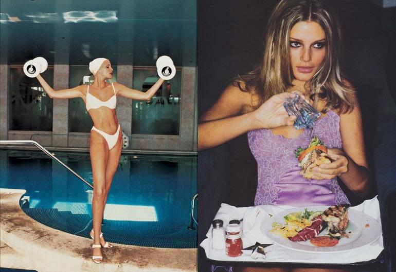 From left: Photographed by Ellen von Unwerth, Vogue, June 1994; Photographed by Ellen von Unwerth, Vogue, May 1994