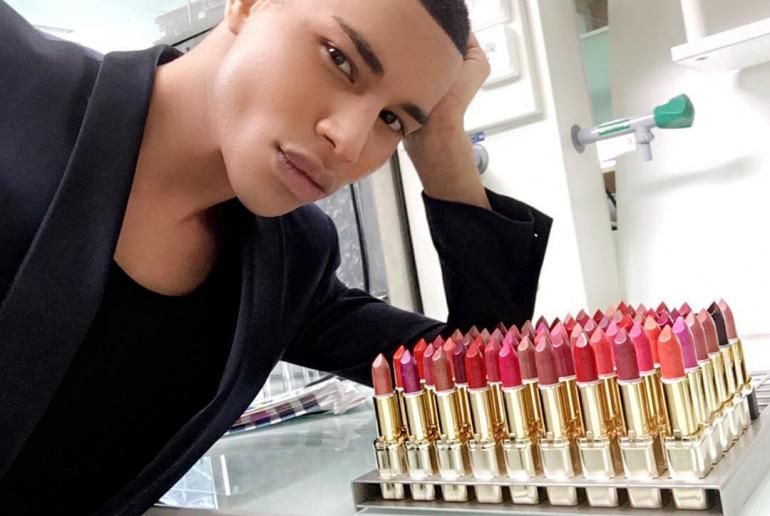 Olivier-Rousteing-Balmain-Loreal-makeup
