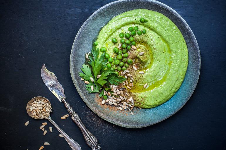 ıspanaklı humus