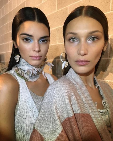 missoni-milano-fashion-week-2019-spring-summer-make-up-trend-kendall-jenner-bella-hadid