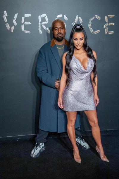 Kim Kardashian, Kanye West, Versace