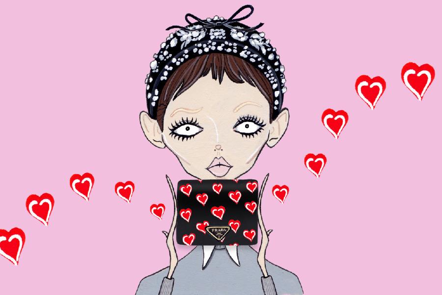 valentine's day prada