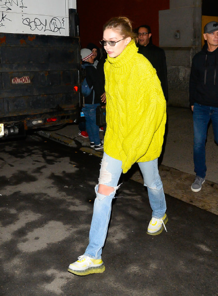 gigi hadid, trend, stil, neon, moda