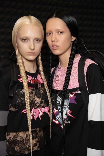 guido-palau-milan-fashion-week-hair-beauty-fall-2019-prada
